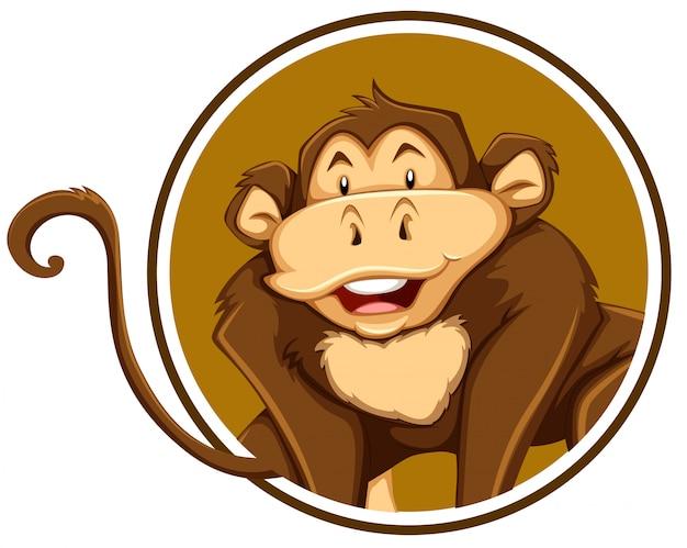Um modelo de etiqueta de macaco