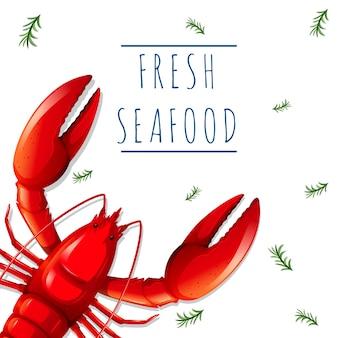 Um modelo de frutos do mar frescos