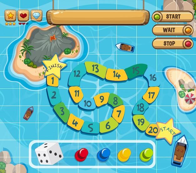Um modelo de jogo de tabuleiro