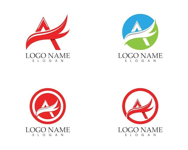 Um modelo de logotipo de asa de carta