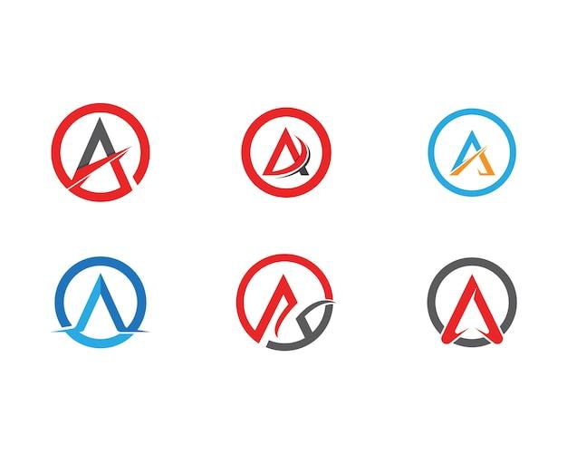 Um modelo de negócios de logotipo de carta