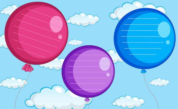 Um modelo de nota de balão