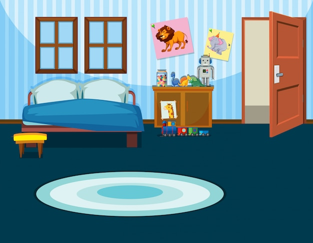 Um modelo de quarto de criança