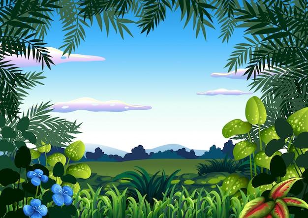 Um modelo de tema de selva