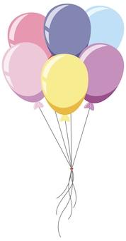Um monte de balões em estilo cartoon de cor pastel
