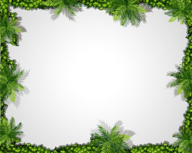 Um, natureza, borda verde, fundo