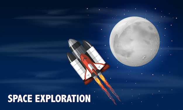 Um ônibus espacial lançado