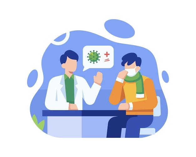 Um paciente testou positivo para coronavírus por um médico após um exame no hospital