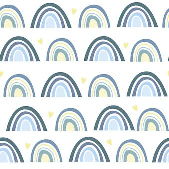 Um padrão de arco-íris perfeito