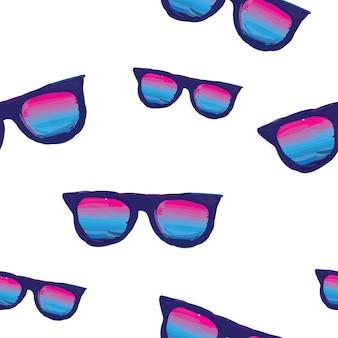 Um padrão de óculos de sol no estilo de tinta a óleo