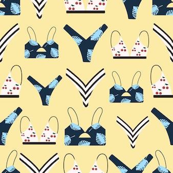 Um padrão de verão perfeito com trajes de banho