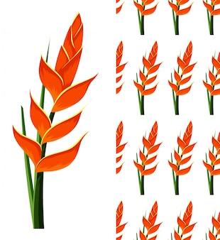 Um padrão sem emenda de flores em branco