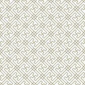Um padrão uniforme baseado em elementos do artesanato tradicional japonês. linhas de espessura média de cor castanha.