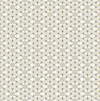 Um padrão uniforme baseado em elementos do tradicional artesanato japonês kumiko zaiku. linhas de espessura média de cor castanha.