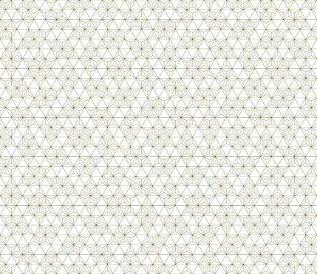 Um padrão uniforme baseado em elementos do tradicional artesanato japonês kumiko zaiku. linhas finas.