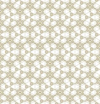 Um padrão uniforme baseado em elementos do tradicional artesanato japonês kumiko zaiku.