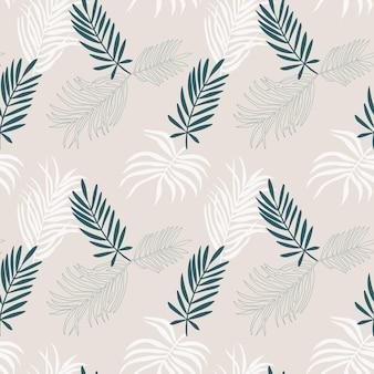 Um padrão uniforme de folhas de palmeira tropical