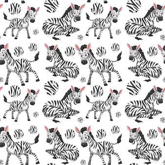 Um papel de parede sem emenda da zebra