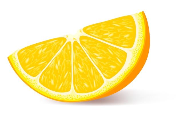 Um pedaço de ilustração laranja