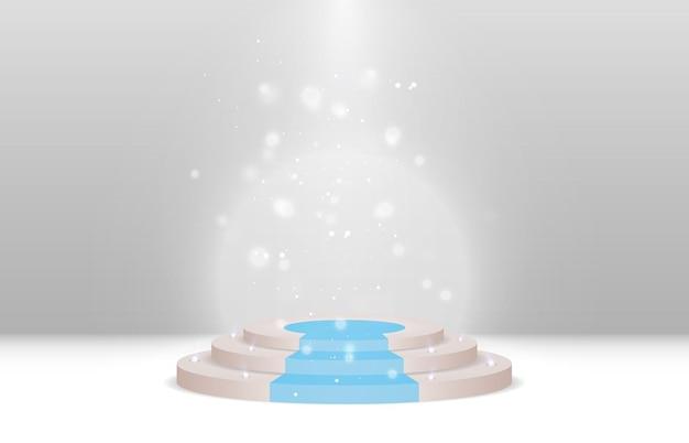 Um pedestal ou plataforma para homenagear os vencedores ilustração vetorial