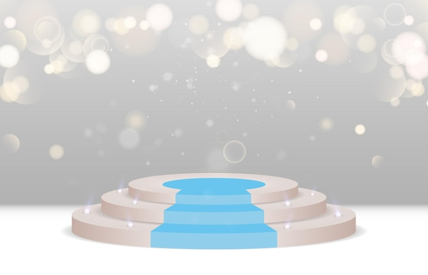 Um pedestal ou plataforma para homenagear vencedores e apresentações vector