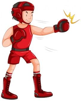 Um personagem de boxe masculino