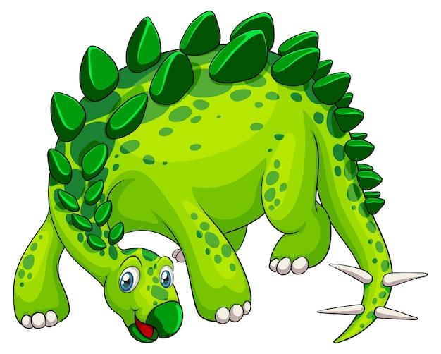 Um personagem de desenho animado de dinossauro estegossauro
