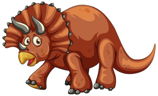 Um personagem de desenho animado de dinossauro triceratops