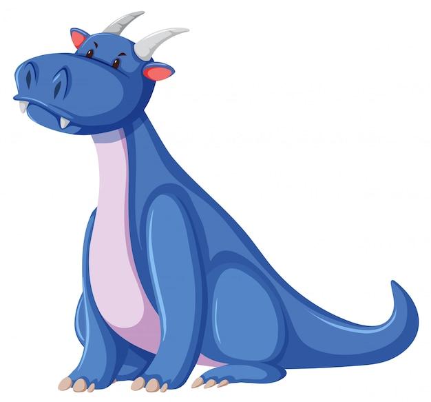Um personagem de dragão no fundo branco
