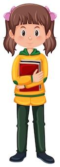 Um personagem de estudante morena