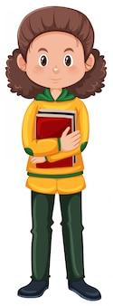 Um personagem de estudante nerd