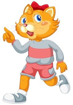 Um personagem de gato bonito catoon