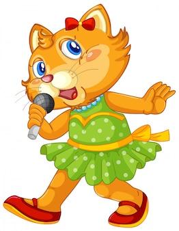Um personagem de gato bonito