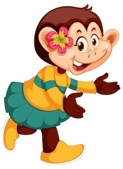 Um personagem de macaco bonito