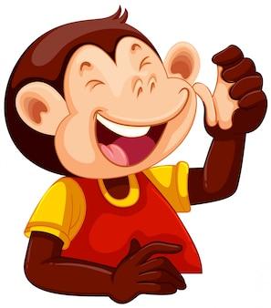 Um personagem de macaco feliz