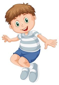 Um personagem de menino gordinho
