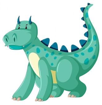Um personagem dragão verde