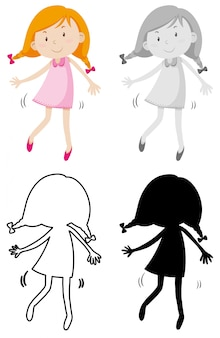 Um personagem simples menina