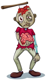 Um personagem zumbi