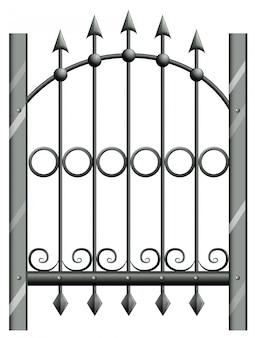 Um portão de aço