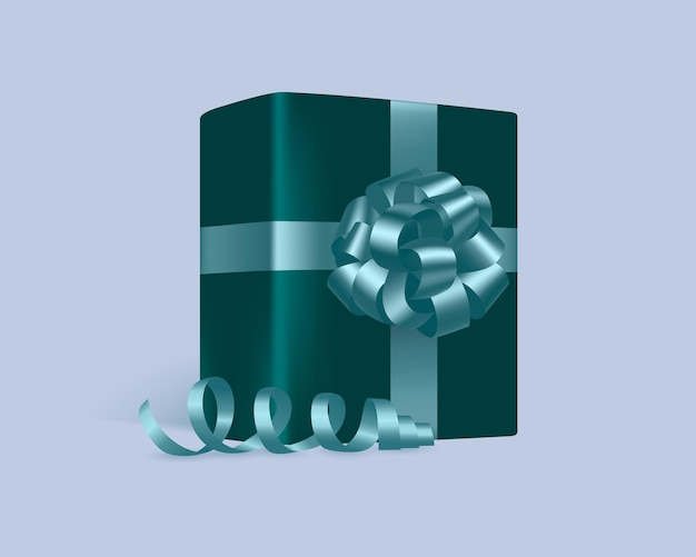 Um presente com um laço azul