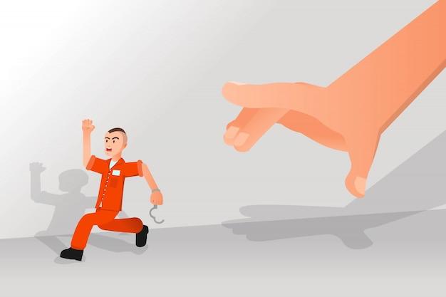 Um prisioneiro tentou escapar da prisão