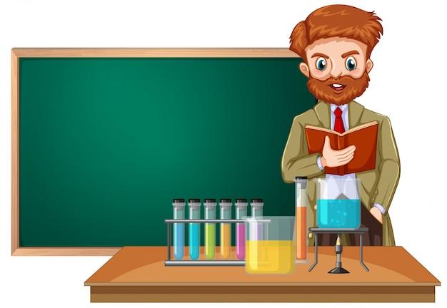 Um professor de ciências em sala de aula