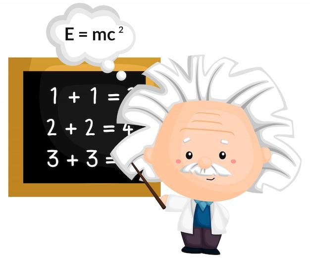Um professor ensinando matemática e física