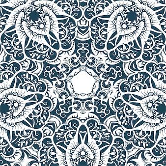 Um, quadrado, padrão, ornamental, textura, ilustração