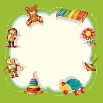 Um quadro de brinquedos para crianças