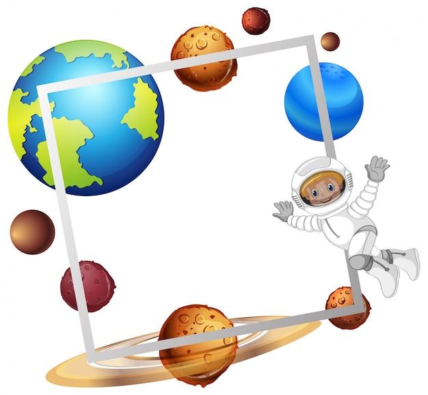 Um quadro de espaço