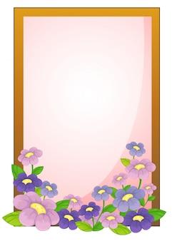 Um quadro vazio com flores