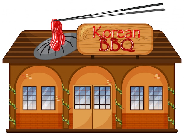 Um restaurante coreano de churrasco