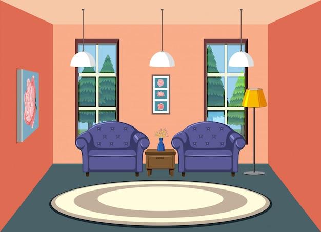 Um, sala de estar, fundo